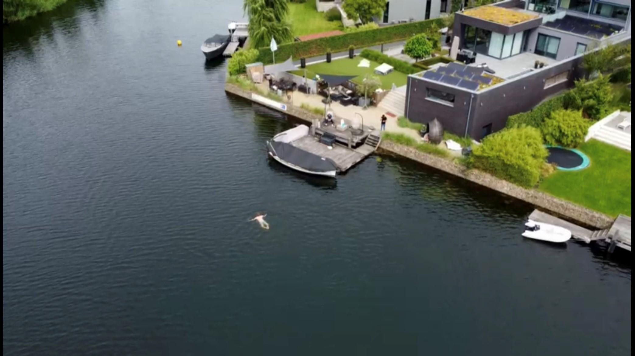 210808 zwemmen in openwater bij de steiger