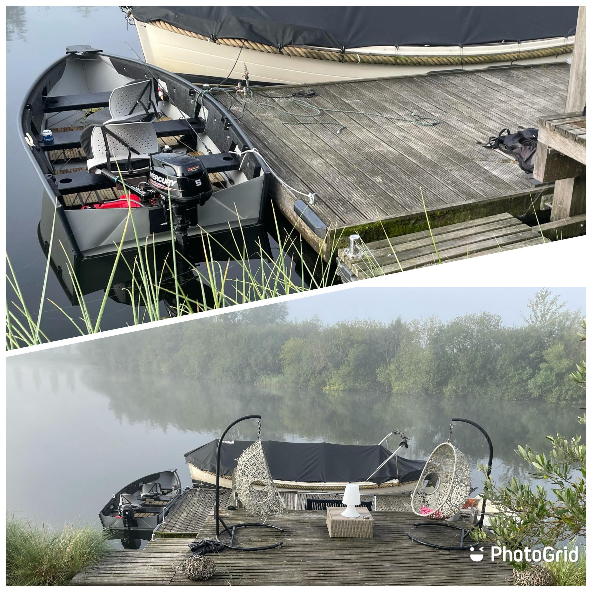 210913 gewoon je eigen visbootje meenemen en aanleggen aan onze steiger